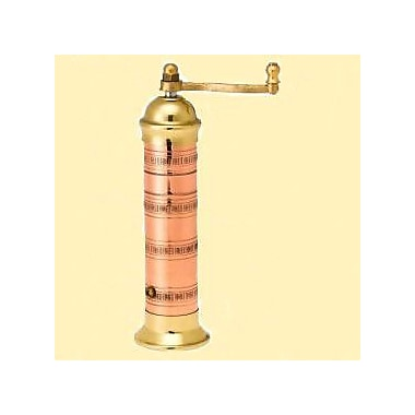 Pepper Mill Imports Atlas 9.5'' x 1.5'' Copper and Brass Pepper Mill