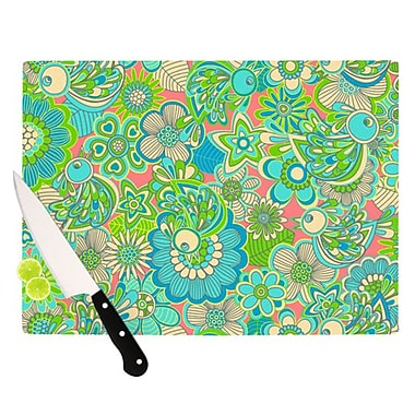 KESS InHouse Welcome Birds To My Garden Cutting Board; 11.5'' H x 15.75'' W x 0.15'' D
