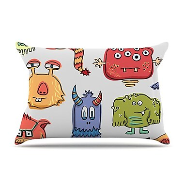 KESS InHouse Little Monsters Pillowcase; King