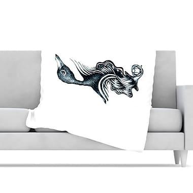 KESS InHouse Swan Horns Throw Blanket; 60'' L x 50'' W