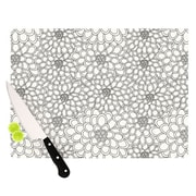 KESS InHouse Flowers Cutting Board; 11.5'' H x 8.25'' W x 0.25'' D