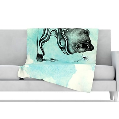KESS InHouse Hot Tub Hunter III Throw Blanket; 80'' L x 60'' W