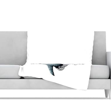 KESS InHouse Shark Record Throw Blanket; 60'' L x 50'' W