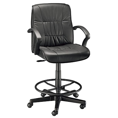 Alvin and Co. Mid-Back Leather Drafting Chair