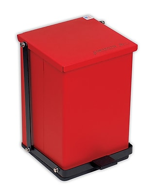 Detecto Receptacle Baked Epoxy in Red; 16 Quart (4 Gallon)