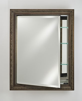Afina Signature 17'' x 30'' Recessed Medicine Cabinet; Brushed Satin Antique Gold