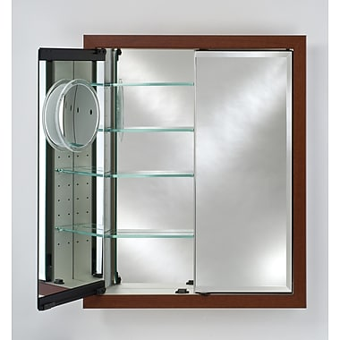 Afina Signature 31'' x 36'' Recessed Medicine Cabinet; Meridian Gold with Silver Caps