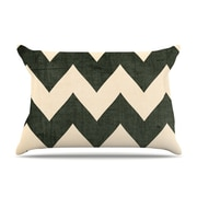 KESS InHouse Vintage Vinyl Pillowcase; Standard