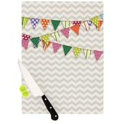 KESS InHouse Flags 1 Cutting Board; 11.5'' H x 8.25'' W x 0.25'' D