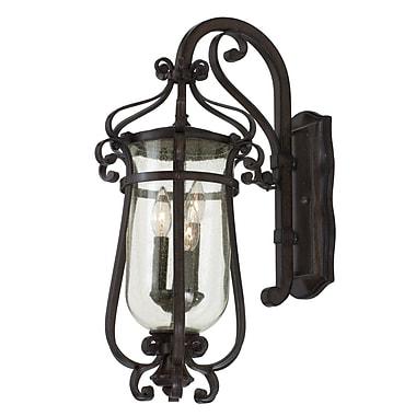 Kalco Hartford 3-Light Outdoor Wall Lantern; Antique Copper
