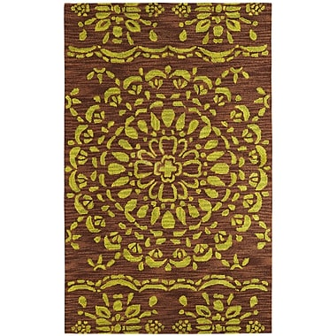 Dynamic Rugs Palace Brown/Green Area Rug; Rectangle 4' x 6'