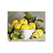Magic Slice 12'' x 15'' Lemon w/ White Bowl Design Cutting Board