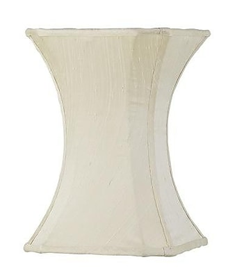 Jubilee Collection 7.25'' Silk Novelty Lamp Shade; Ivory