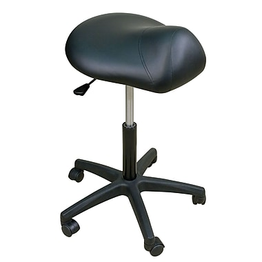 Oakworks Height Adjustable Premium Saddle Stool; Blue grass