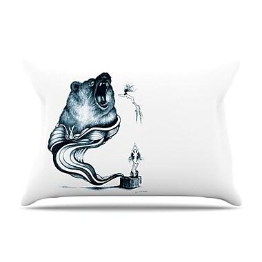 KESS InHouse Hot Tub Hunter Pillowcase; Standard