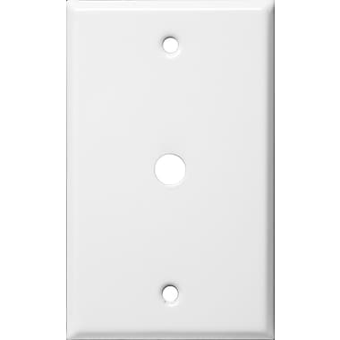 Morris Products 0.63'' Gang Cable Metal Wall Plates in White