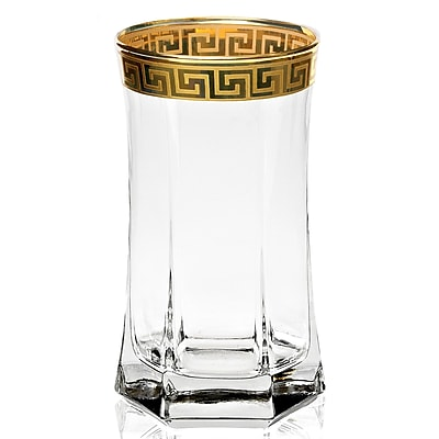Lorren Home Trends Florence 16 oz. Crystal Highball Glass (Set of 4)
