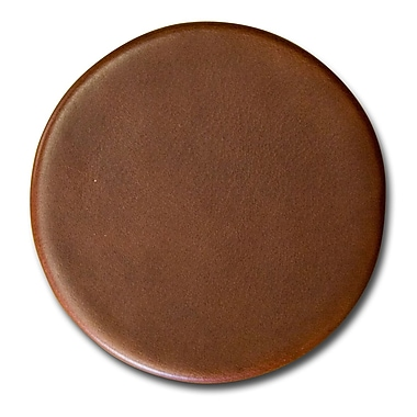 Dacasso 3200 Series Top-Grain Leather Coaster in Rustic Brown