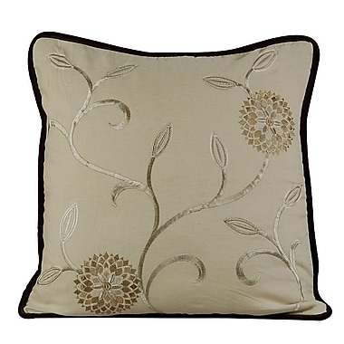 Gracious Living Bedazzle Throw Pillow; Wheatish