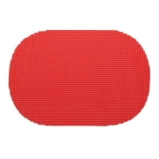 Kraftware Fishnet Placemat (Set of 12); Flag Red