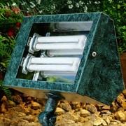 Dabmar Lighting 2-Light Flood Light; Verde Green