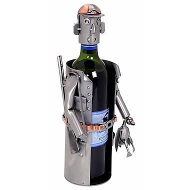 H & K SCULPTURES Hunter 1 Bottle Tabletop Wine Rack