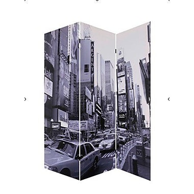 Screen Gems 72'' x 48'' New York City 3 Panel Room Divider
