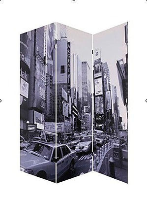 Screen Gems 72'' x 48'' New York City 3 Panel Room Divider