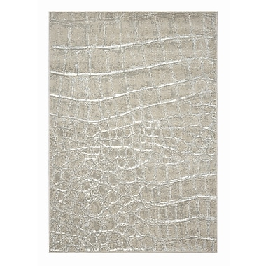 Dynamic Rugs Mysterio Ivory Checked Area Rug; 6'7'' x 9'6''