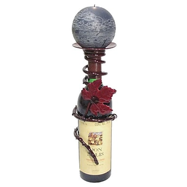 Metrotex Designs Grapevine Bottle Topper; Merlot