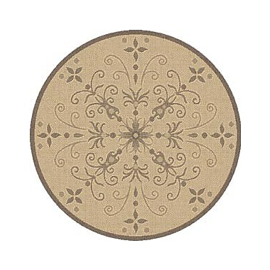 Dynamic Rugs Piazza Brown Indoor/Outdoor Area Rug; Round 5'3''