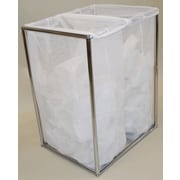 The Bag Stand Co Laundry Sorter; Chrome
