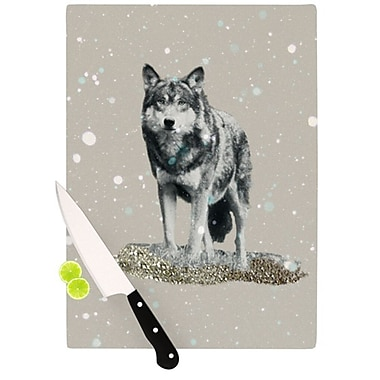 KESS InHouse Wolf Cutting Board; 11.5'' H x 8.25'' W