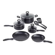WearEver Comfort Grip 10 Piece Cookware Set; Black