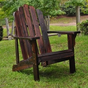 Shine Company Inc. Marina Adirondack Chair; Burnt Brown