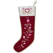 The Sandor Collection Hearts and Flowers Stocking