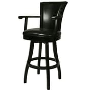 Impacterra Glenwood 26'' Swivel Bar Stool; Black
