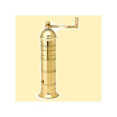 Pepper Mill Imports Atlas 7.5'' x 1.5'' Brass Pepper Mill