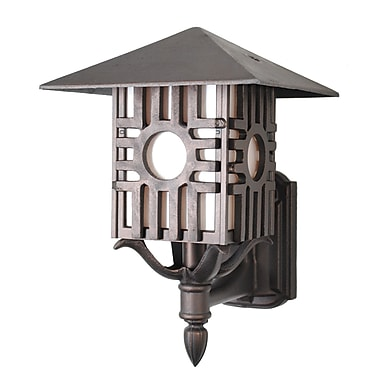 Melissa Americana 1-Light Outdoor Sconce; Aged Silver