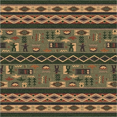 Milliken Pastiche Wide Ruins Autumn Forest Green Area Rug; Square 7'7''