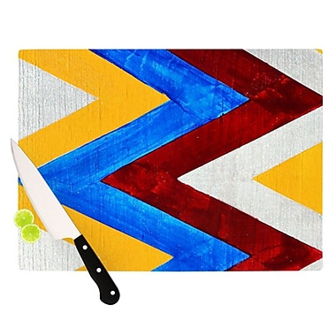 KESS InHouse Zig Zag Cutting Board; 11.5'' H x 8.25'' W x 0.25'' D