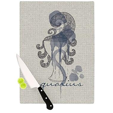 KESS InHouse Aquarius Cutting Board; 11.5'' H x 15.75'' W x 0.15'' D