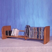 Wood Shed 100 Series 55 CD Multimedia Tabletop Storage Rack; Natural