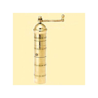 Pepper Mill Imports Traditional 9.5'' x 1.5'' Brass Coffee and Spice Mills