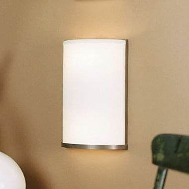 Lights Up! Meridian 1-Light Large Wall Sconce; White Linen