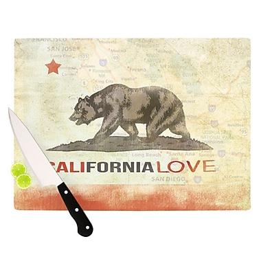 KESS InHouse Cali Love Cutting Board; 11.5'' H x 15.75'' W x 0.15'' D