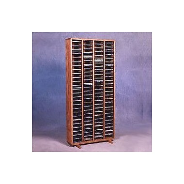 Wood Shed 400 Series 320 CD Multimedia Storage Rack; Clear