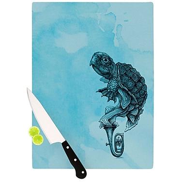 KESS InHouse Turtle Tuba III Cutting Board; 11.5'' H x 8.25'' W x 0.25'' D