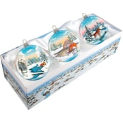 G Debrekht Winter Animals Balls Ornament (Set of Three)