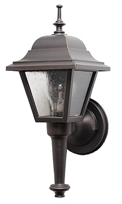 Melissa Kiss Series 1-Light Outdoor Sconce; Rusty Nail
